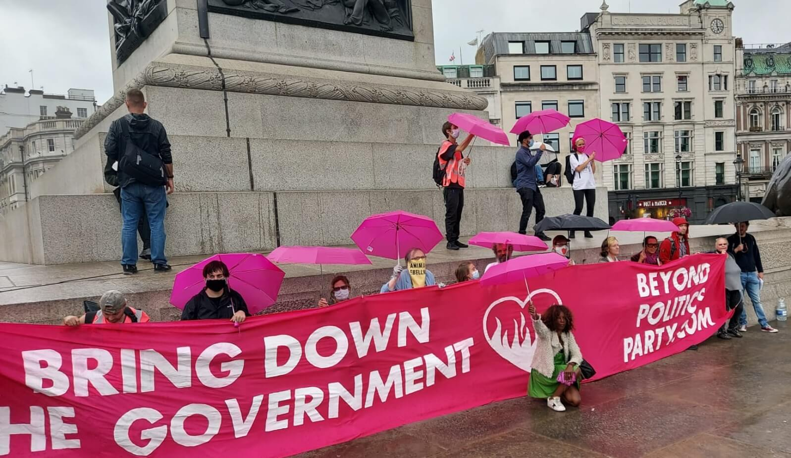 Bring Down the Government Banner Trafalgar Square