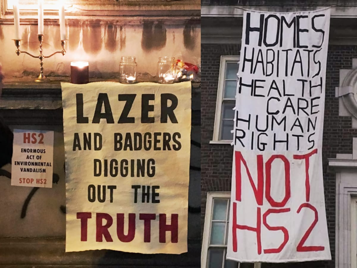 HS2 Posters - Lazer and Badgers Digging out the Truth